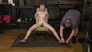 young blonde tied and tortured