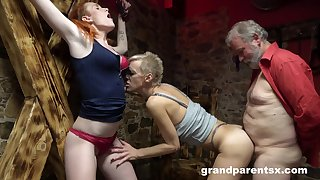 Kinky threesome experience can't be better for sexy blonde milf