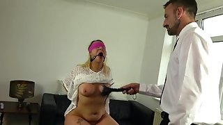 Candice Banks tied up and brutally tortured by a dominant male