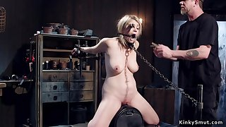 Blondie tormented in bondage devices