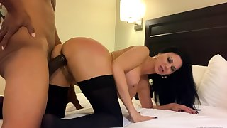 The big breasted Gianna interracial blowjob