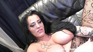 Busty whore of a wife spreads her legs to be fucked by a lover
