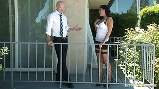 Brunette wife London Keyes loves to being fucked by her lover