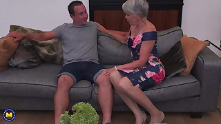 Granny with her student lover
